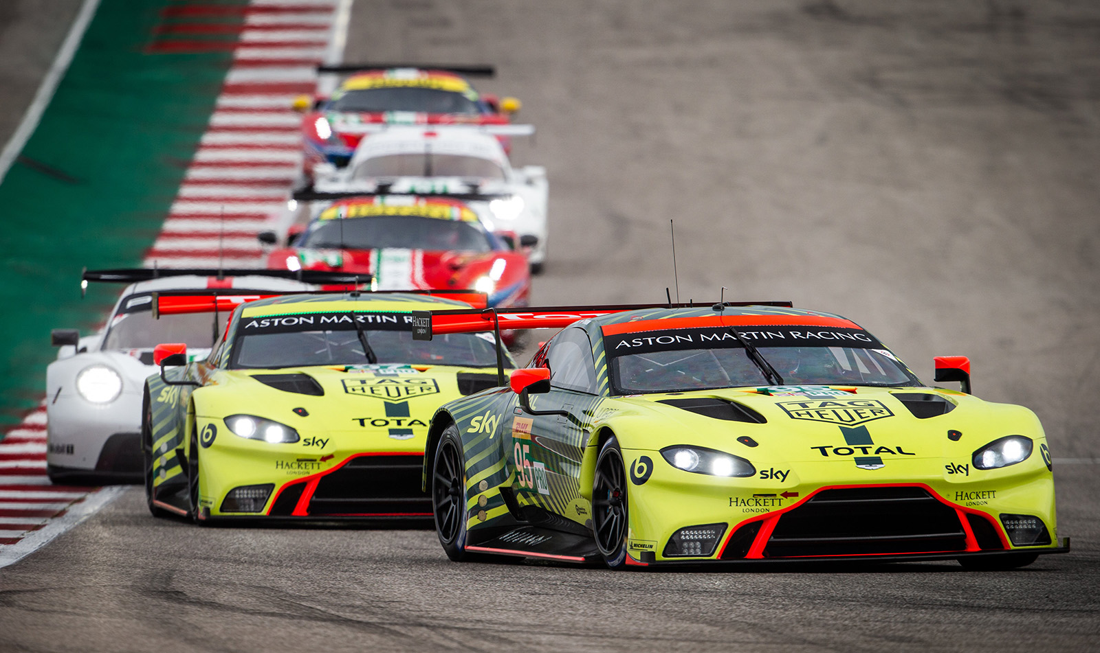 95 SORENSEN Marco (dnk), THIIM Nicki (dnk), Aston Martin Vantage AMR team Aston Martin racing, action during the Lone Star Le Mans 2020, 6 Hours of Circuit of The Americas, fifth round of the 2020 FIA World Endurance Championship season from February 21 to 23 at Austin, USA