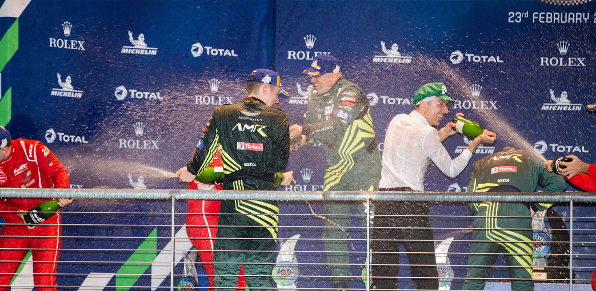 98 DALLA LANA Paul (can), TURNER Darren (gbr), GUNN Ross (gbr), Aston Martin Vantage AMR team Aston Martin racing, portrait podium during the Lone Star Le Mans 2020, 6 Hours of Circuit of The Americas, fifth round of the 2020 FIA World Endurance Championship season from February 21 to 23 at Austin, USA