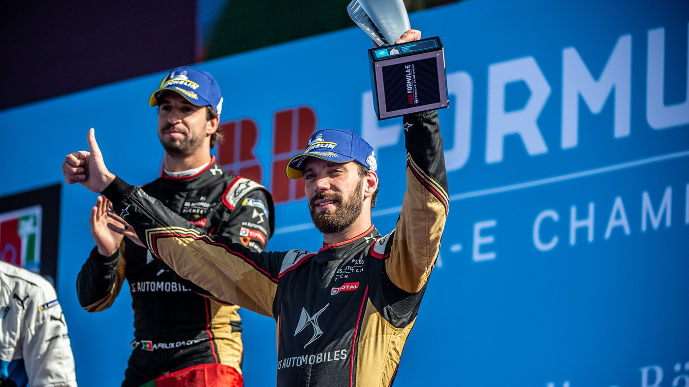 25 VERGNE Jean Eric (FRA), DS e-tense FE20 team DS TECHEETAH, portrait podium ambience  during the 2020 Formula E championship in Marrakesh, Morocco, from February 28-29 - Photo Jan Starek/MCH Photography