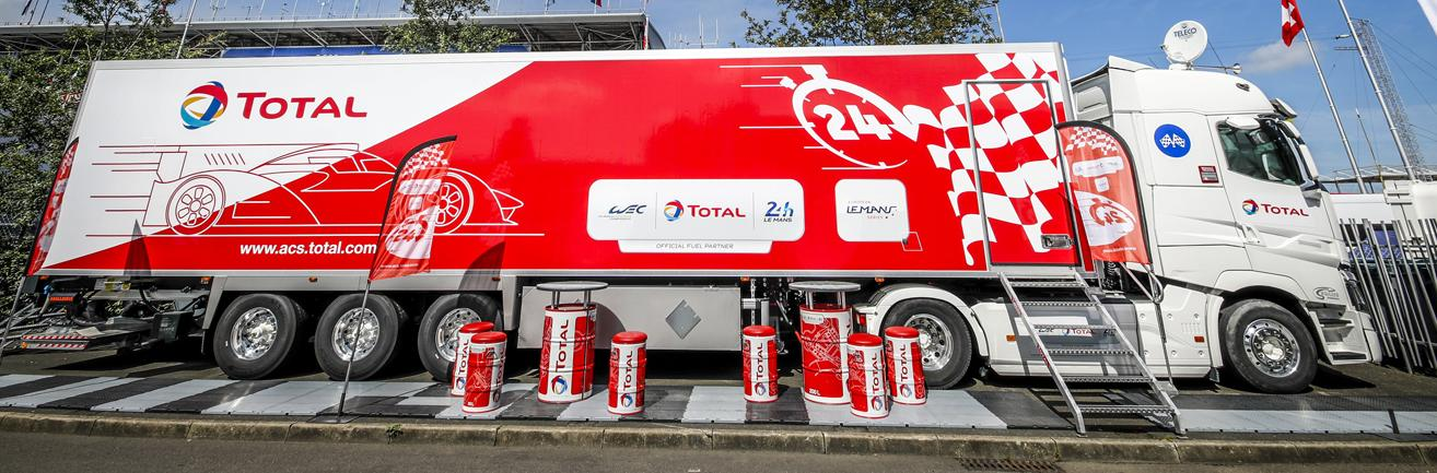 Camion TotalEnergies lors des 24H du Mans
