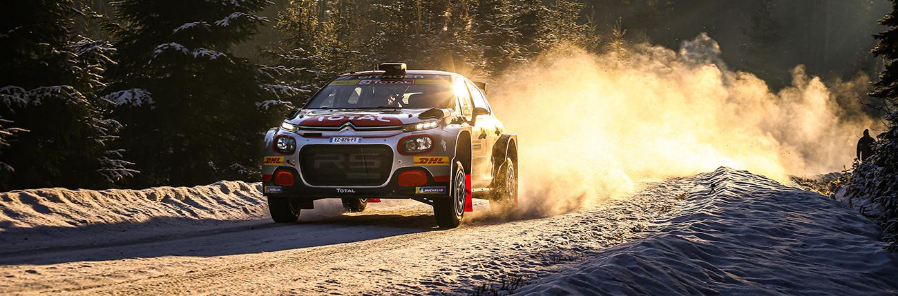 20 OSTBERG Mads (NOR), ERIKSEN Torstein (NOR), Citroen C3 R5, PH Sport WRC 2, action during the 2020 Rally Sweden, 2nd leg of the 2020 FIA WRC Championaship from February 13 to 16, 2020 at Torsby, Varmland in Sweden
